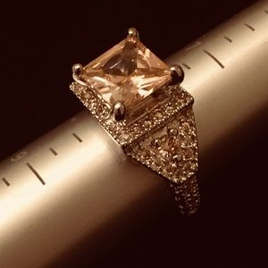Engagement Ring With Pink Cubic Zirconium